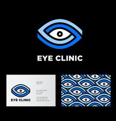 eye clinic logo ophthalmology vector image