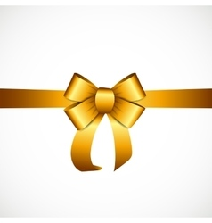 Gift Card with Gold Ribbon and Bow vector image