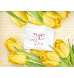 Happy Mother Day Tulips Flower EPS 10 vector image vector image