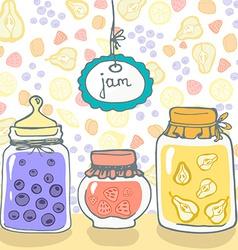Jars vector image