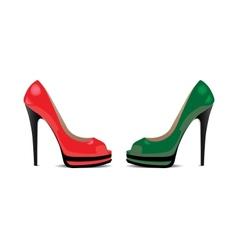 ladies shoe vector image vector image