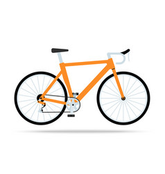 orange bicycle flat icon bike isolated on vector image vector image