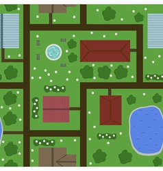seamless plan of town vector image vector image