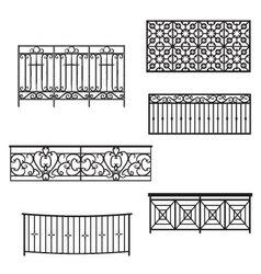 Balcony Rails vector image vector image