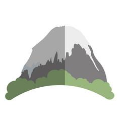 big mountain ice icon vector image