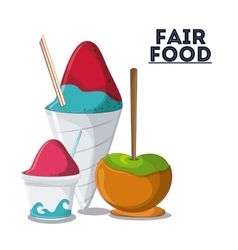 fair food snack carnival icon vector image