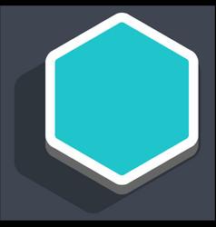 flat blank hexagon web internet button vector image vector image