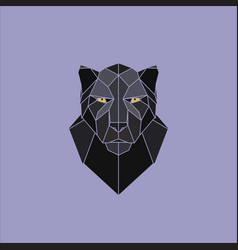 geometric black panther vector image