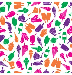 ice cream colorful seamless pattern eps10 vector image vector image