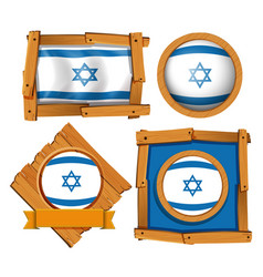 icon design for flag of israel vector image vector image
