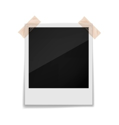 Photo frame on a white background vector image vector image