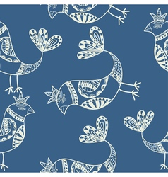 Silhouette of black ethnic birds Seamless pattern vector image vector image