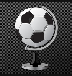 soccer game ball as globe isolated on white vector image vector image