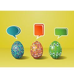 Social media Easter interaction vector image vector image