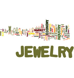 the jewelry market never goes out of style even vector image