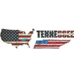 USA state of Tennessee on a brick wall vector image vector image