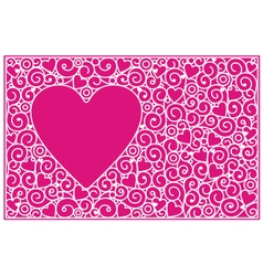 Love cards horisontal vector image