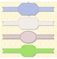 retro ribbons vector image