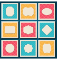 Vintage patterned cards templates set vector image vector image