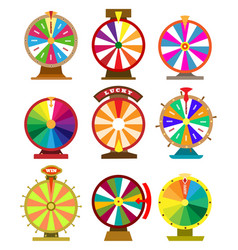 fortune wheel icons vector image vector image