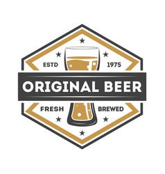 original beer vintage isolated label vector image
