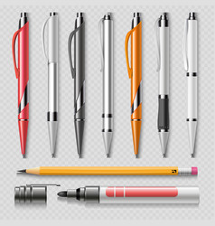 realistic office stationery isolated on vector image