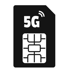 5g phone card icon simple style vector image