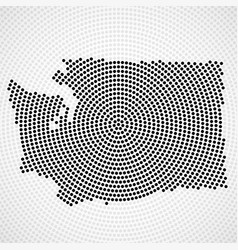 abstract map washington radial dots halftone vector image