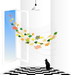 abstract room vector image vector image