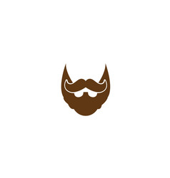 beard and mustache of an elegant gentleman for vector image