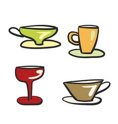 Beverage glassware vector