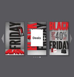 black friday ads realistic mobile web vector image