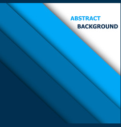 blue paper overlap layer for text and background vector image