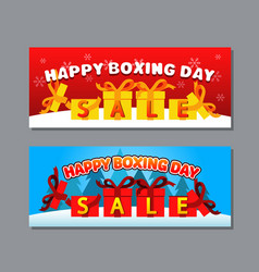 boxing day greeting banner vector image