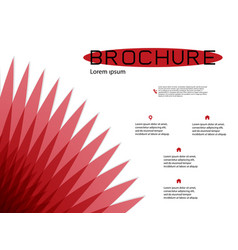 brochure cover design and flyer layout templates vector image
