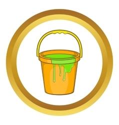 Bucket of paint icon vector