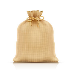Burlap sack for products vector