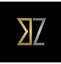 Bz letters logo vector