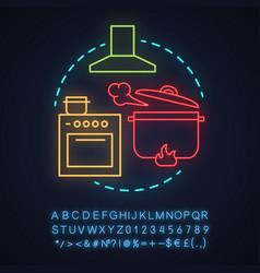 Cafe neon light concept icon vector