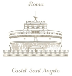 Castle of the holy angel vector