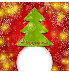 Christmas tree greeting card vector