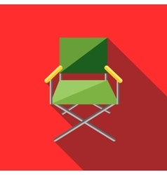 Cinema director chair icon flat style vector image