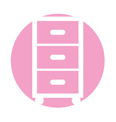 Clothes drawers isolated icon vector