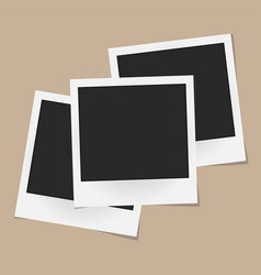 Collage of realistic photo frames isolated on vector