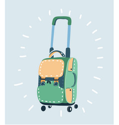 Color plastic travel bag with different travel vector