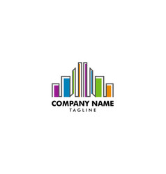 colorful real estate buildings logo template vector image