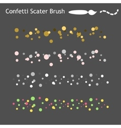Confetti scatter brushes saved in panel ready vector