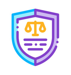 court icon law and judgement icon vector image