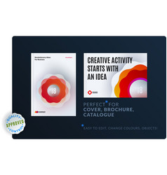 creative design of brochure set abstract annual vector image