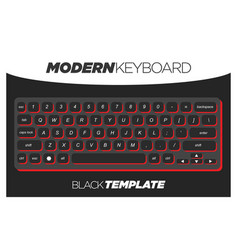 Dark black and red qwerty keyboard element vector